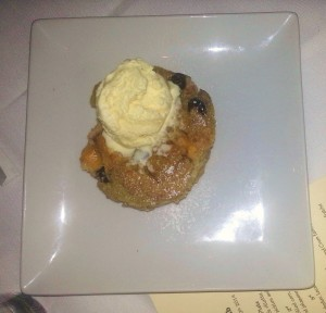Room 39 Food Peach Blueberry Bread Pudding