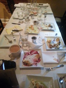 Room 39 Table after Dessert